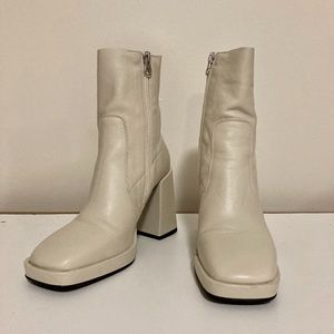 Cream (Off White) Ankle Boots from L'Intervalle